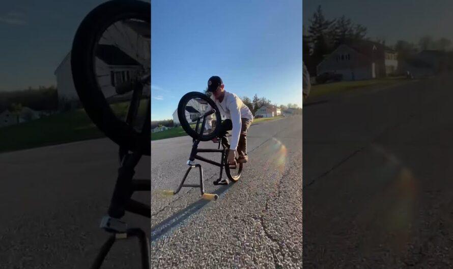 Umgedreht Radfahren